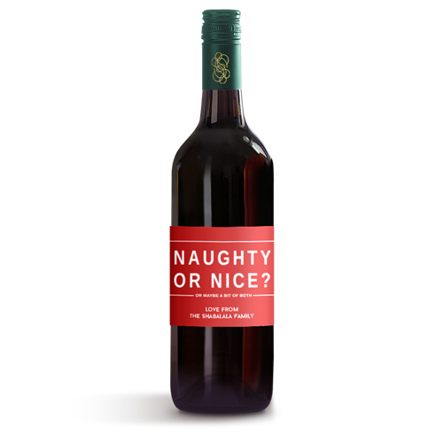Picture of Naughty or Nice Wine Label