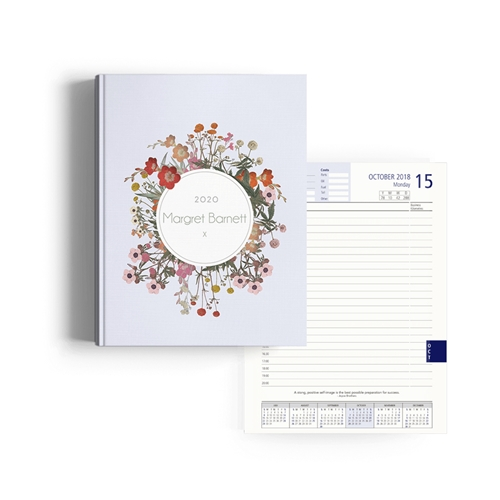 Picture of Vintage Flowers Diary Management
