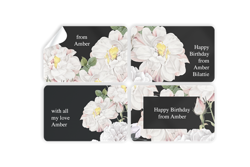 Picture of White Roses Stickers