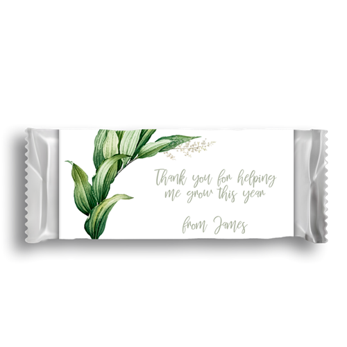 Picture of Thank You For Helping Me Chocolate Wrapper